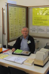 Helmut Knaier auf dem FG-Stand