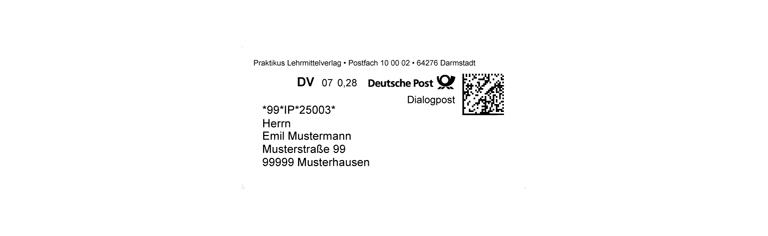 "DV-Freimachung ""Dialogpost"""