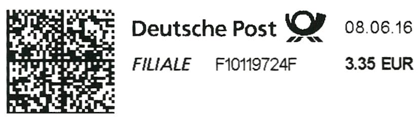 Label des neuen Druckers BIXOLON